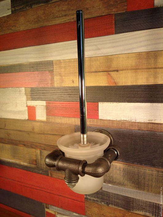 Ванная комната ручной работы. Ярмарка Мастеров - ручная работа. Купить Держатель туалетного ершика в стиле Лофт (Loft), Индастриал, Рустик. Handmade.