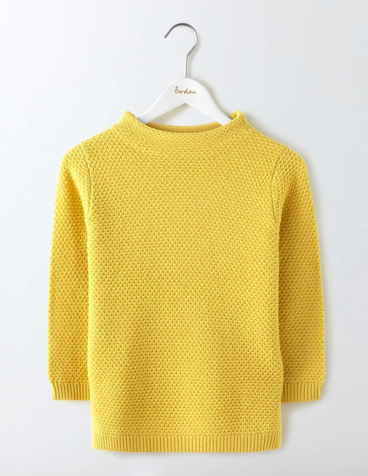 Pull Col Cheminée Skye (Mimosa Yellow)