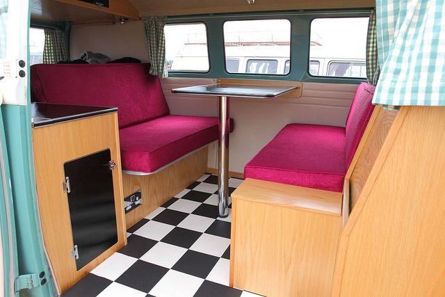 17 best images about vw interior on pinterest volkswagen for Kombi van interior designs