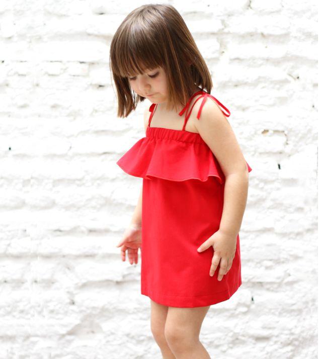 Motoreta || Red Frill Dress with Straps