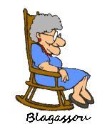 Mémé en fauteuil à bascule. GIF animé.