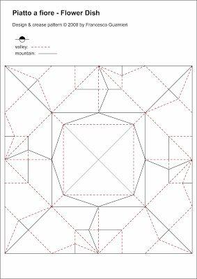 Origami, CP: Piatto a fiore - Flower Dish. Designed by Francesco Guarnieri.