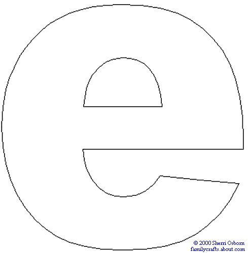 bubble letter lowercase e download