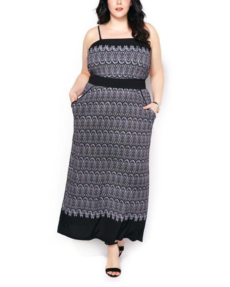 Printed Sleeveless Dress #penningtons #plussizefashion