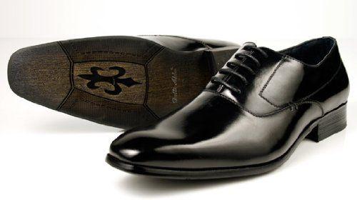 Delli Aldo Men's Dress Shoes Lace up Modern Oxfords Italian Design Sleek Black