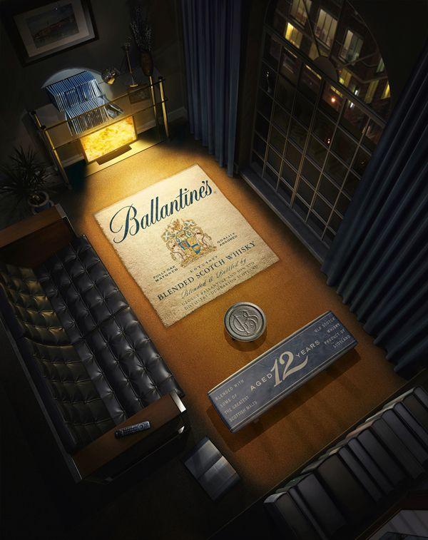 Ballantines Scotch Whisky by Act2-Um Repinned by www.strobl-kriegner.com #print #advertisement #creative #advertising #branding