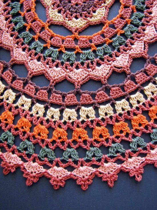 Un montón de bricolaje ganchillo Mandala Tapetes de los patrones artísticos…