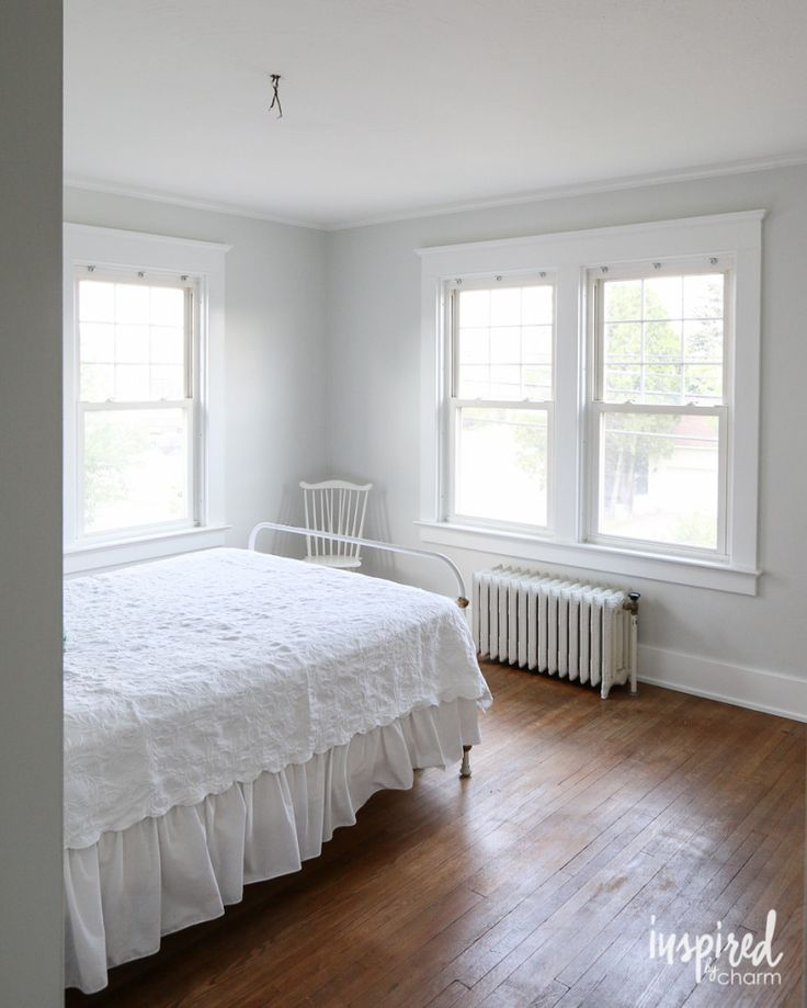 The bedroom is painted window trims downstairs bathroom for Spare bedroom paint color ideas
