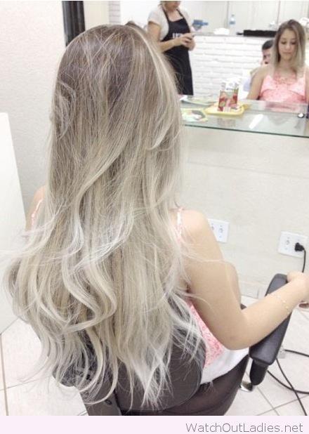 Ash brown and platinum blonde