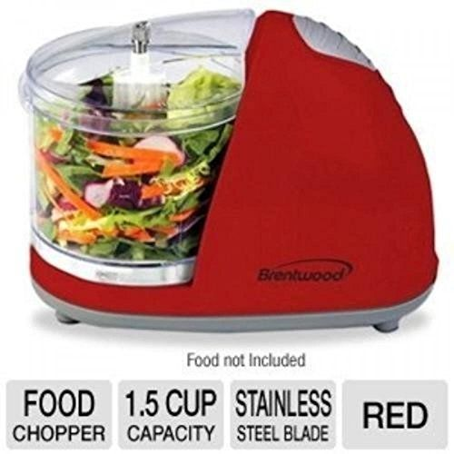 Cheap Food Processors Brentwood Mini Food Chopper Red Small Appliances Processor Cooking Cutting on sale
