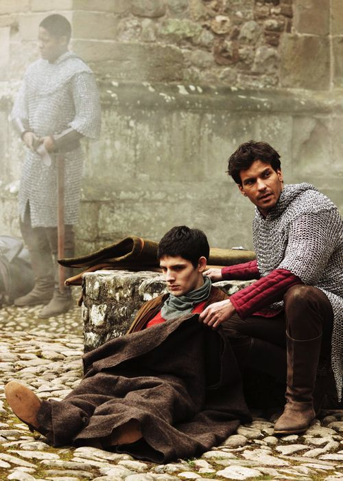 Lancelot was always a great friend to Merlin. (Like his portrayal here waaaay better than the original myths!)