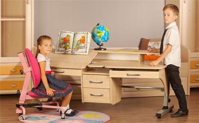 Детский стол Эргономик для двоих детей