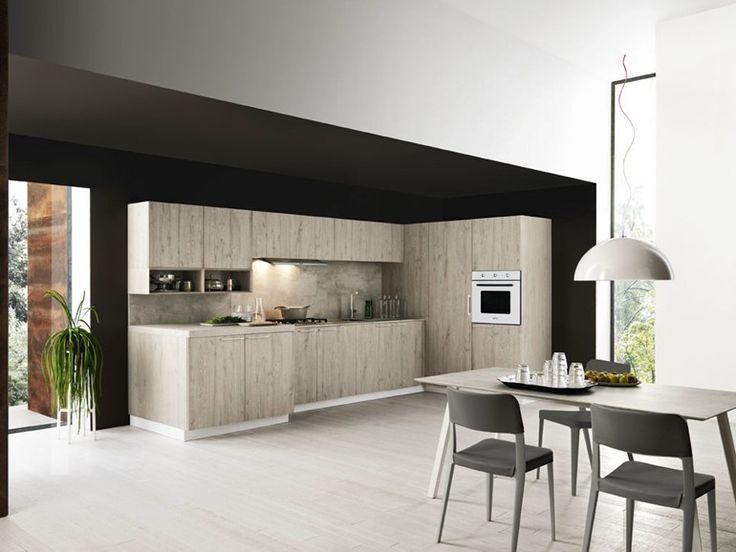 Linear Fitted Kitchen ARIEL   COMPOSITION 4 By Cesar Arredamenti Design  Gian Vittorio Plazzogna