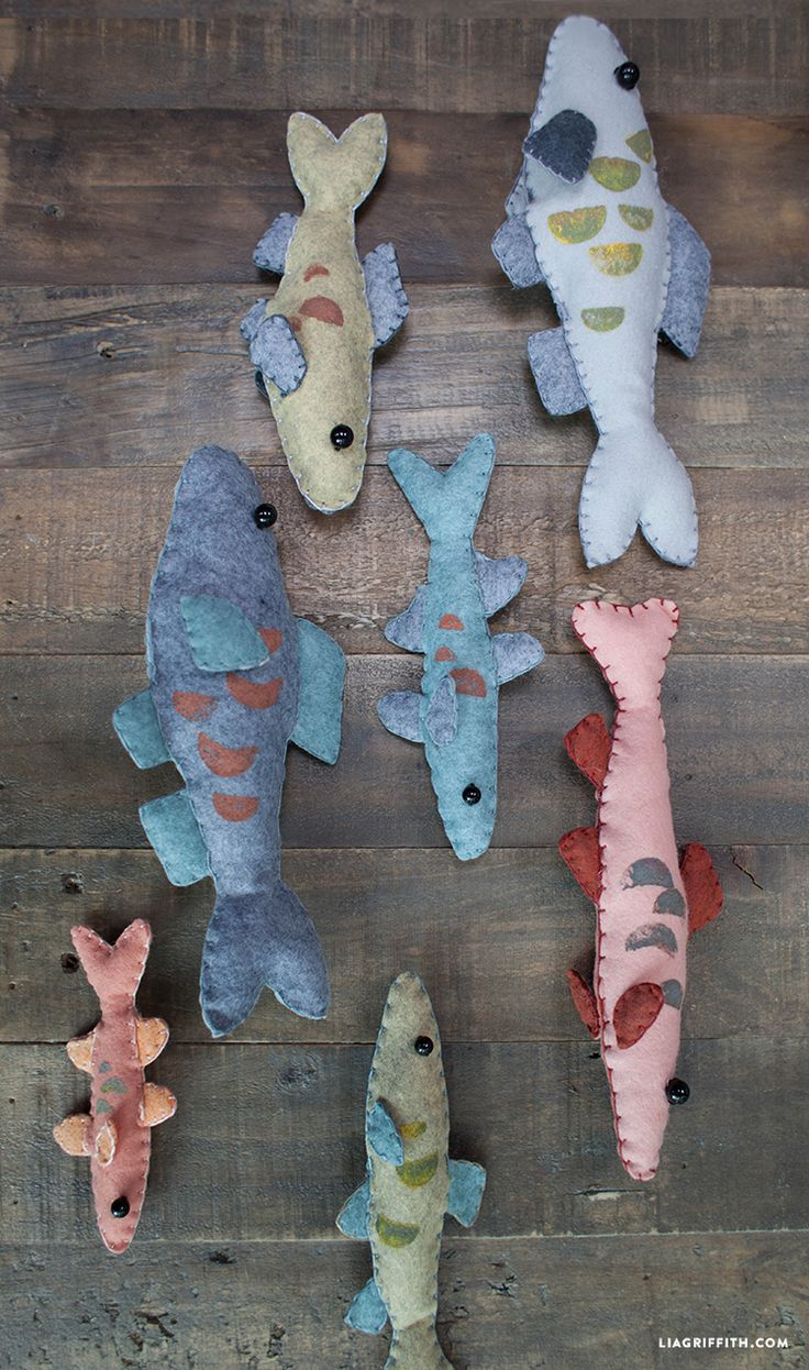 Felt Fish Kids Game...fish...free pattern and how to...