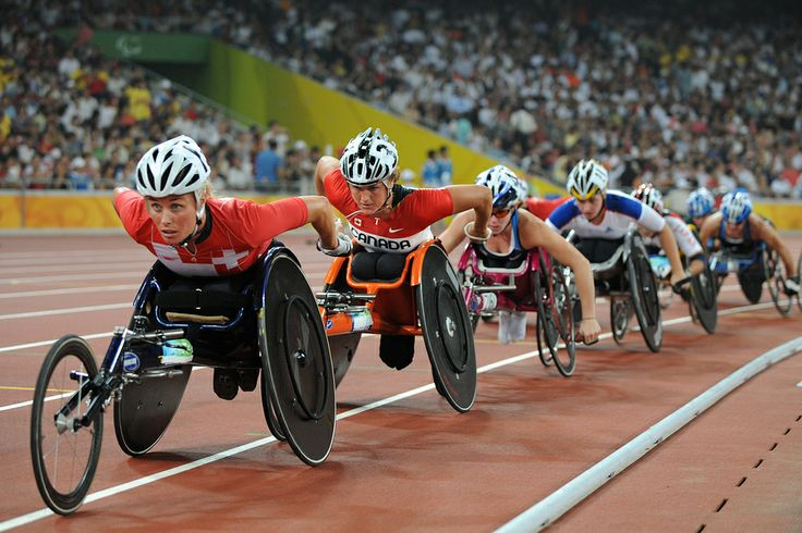 Sep 8, 2008 Pictures of the Day - Photo Journal - WSJ Edith Hunkeler, of Switzerland, led before crashing in the final of the women's 5,000-meter T54 classification race at the 2008 Beijing Paralympic Games. Diane Roy, of Canada, won the race with Shelly Woods, of Great Britain, second and the United States' Amanda McGrory third. (Mark Ralston/Agence France-Presse — Getty Images )
