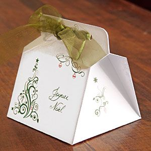 Boîte à gourmandises pour cadeau gourmand - Explications & gabarit -
