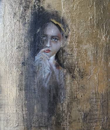 "Saatchi Art Artist Donatella Marraoni; Painting, ""Portrait - You can have my half"" #art"