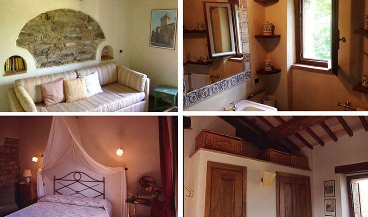 Al 1°piano: camera matrimoniale, camera con un divano letto matrimoniale, bagno con doccia.