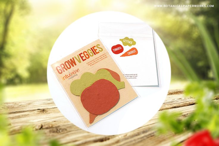 Give a garden of fresh veggies to grow with these unique Seed Paper Veggie Packs! See this and other ideas for gardening giveaways.