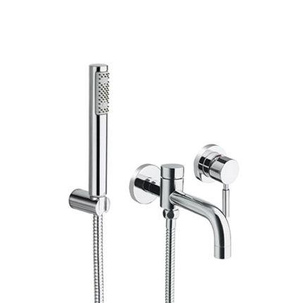Mitigeur bain-douche encastré Triverde avec douchette