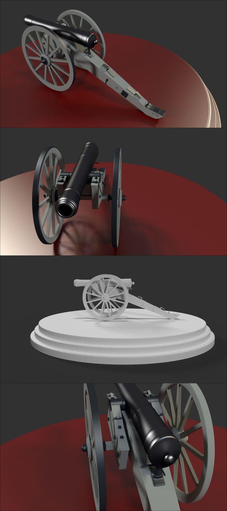 #3d model of #cannon artillery  #weapon made using #blender3d https://www.youtube.com/watch?v=rvfFr8vJEv8