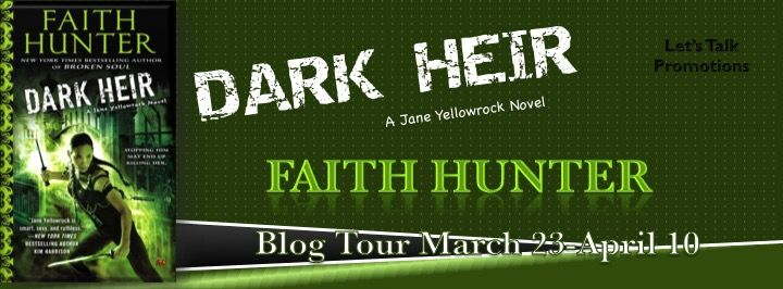 Faith Hunter's ninth Jane Yellowrock novel DARK HEIR is coming April 7th, and we're touring to get the word out! Dark Heir Jane Yellowrock #9 ISBN: 9780451465962 Publisher: Roc / Penguin Publish Da...