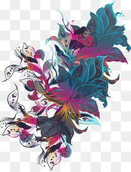Linha arte Flores., Vector Png, A Arte De, Colorido Das FloresPNG e Vector