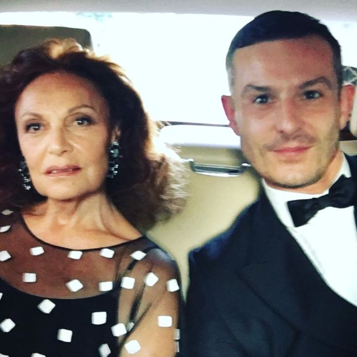 """Good luck Jonathan for today's revealing of your impressive vision of DVF ! Thank you for your talent and hard work . Love Diane"""