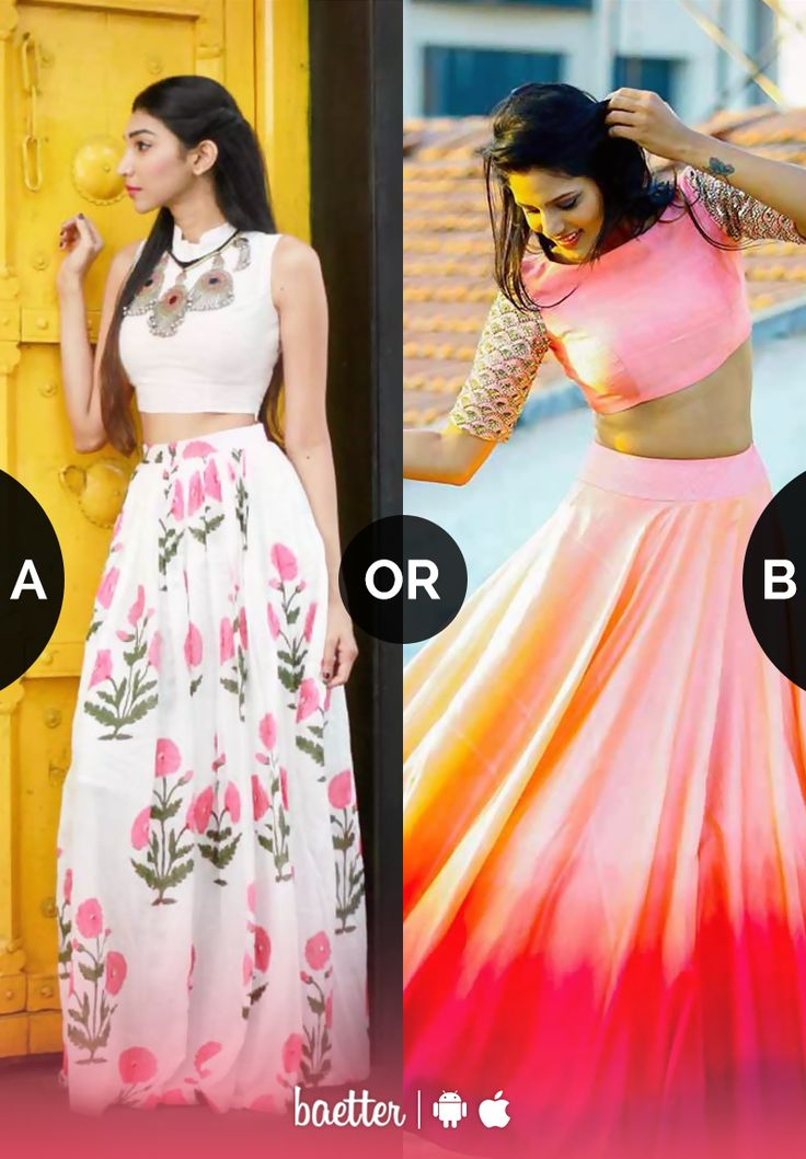 Which long skirt would you rather wear to a lunch date? Vote on Baetter App.