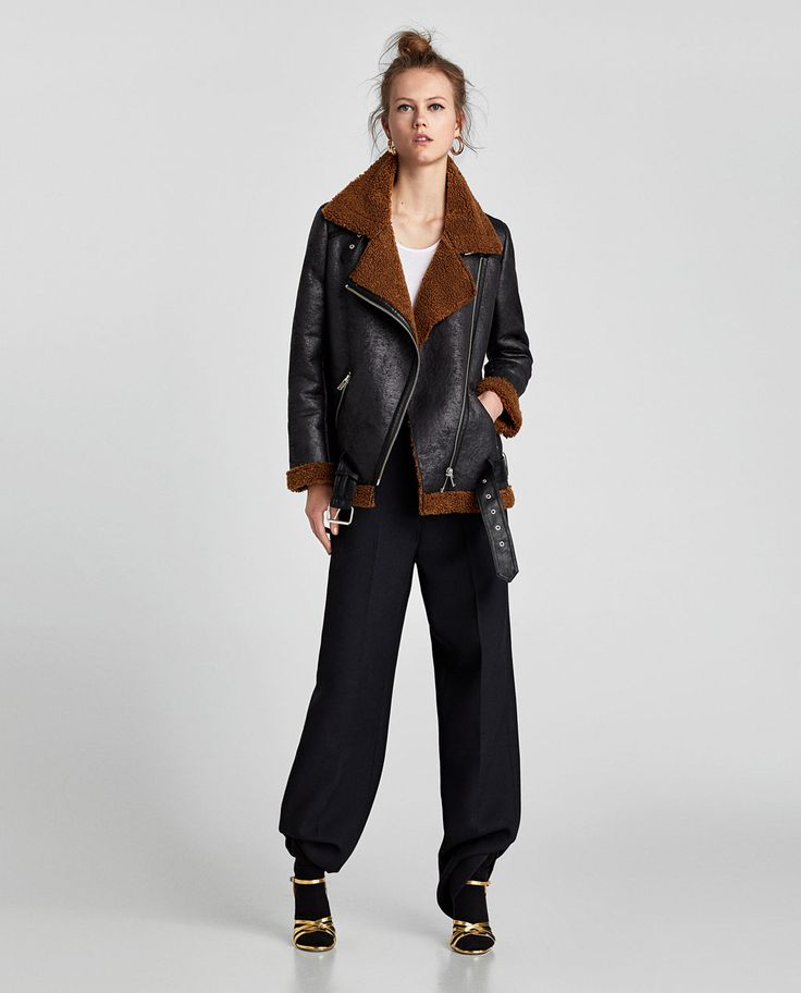 Image 1 of TEXTURED BIKER JACKET from Zara