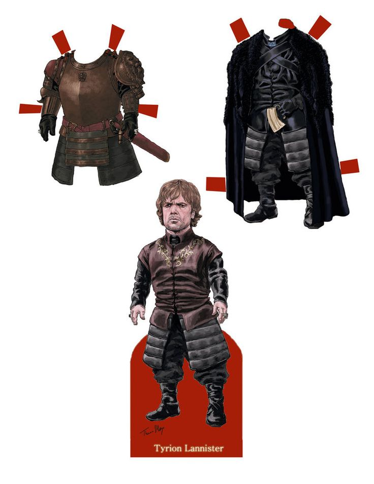 Tyrion Lannister Paper Doll