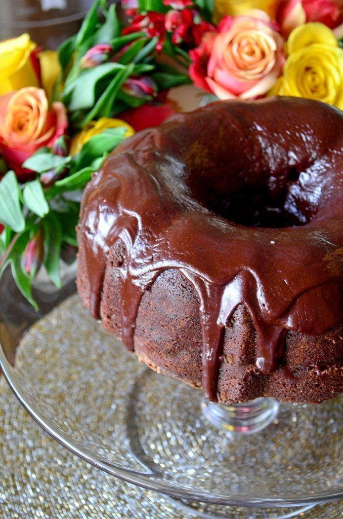 Chocolate Kailua Cake- rich and fudgy cake, with layers soaked with kahlua and a chocolate glaze over top! Wow! | Go Go Go Gourmet