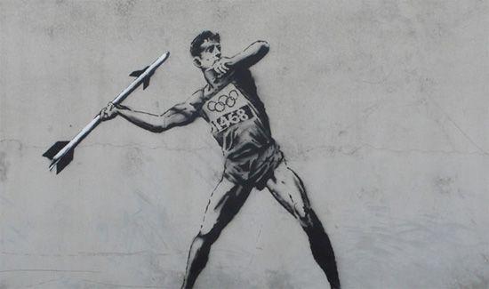 Bansky-london-olympicsStreet Artists, Olympics Games, London Street, The Artists, Graffiti, The Games, Banksy, New Art, Streetart