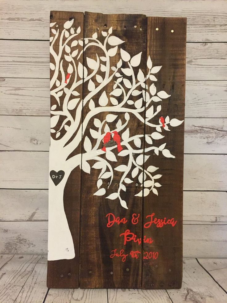 Wooden Recycled pallet Family tree sign- wedding- anniversary gift- reclaimed wood sign