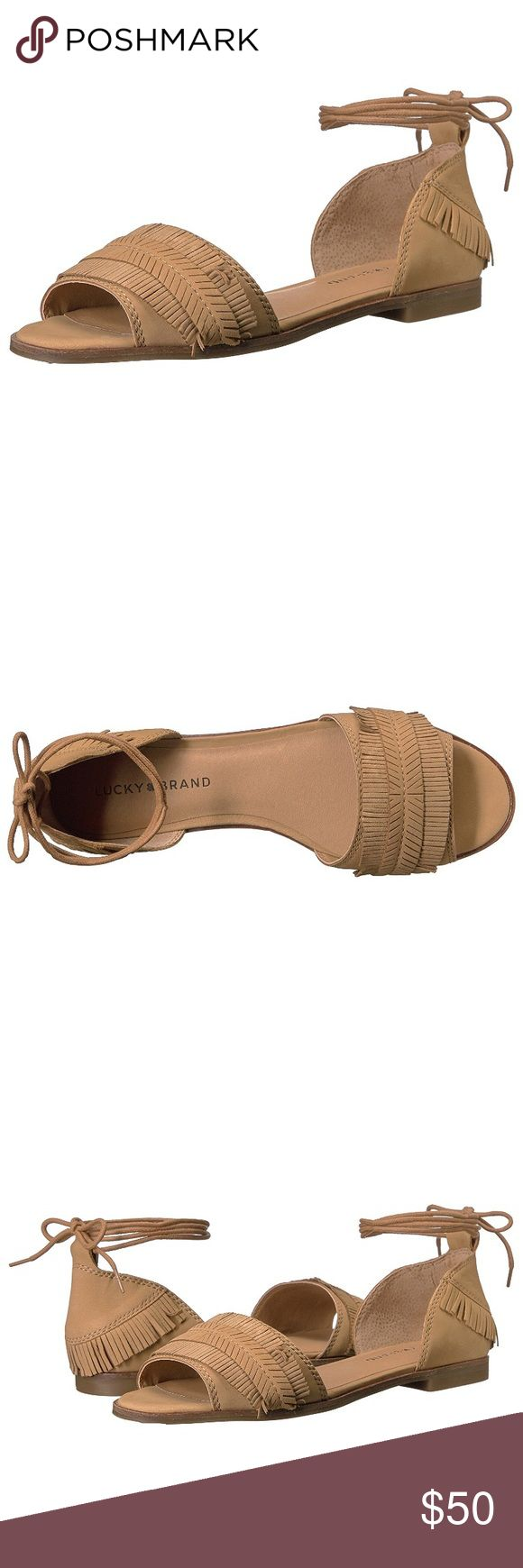 Lucky brand flats peep toe sandals Brand new with box Lucky Brand Shoes