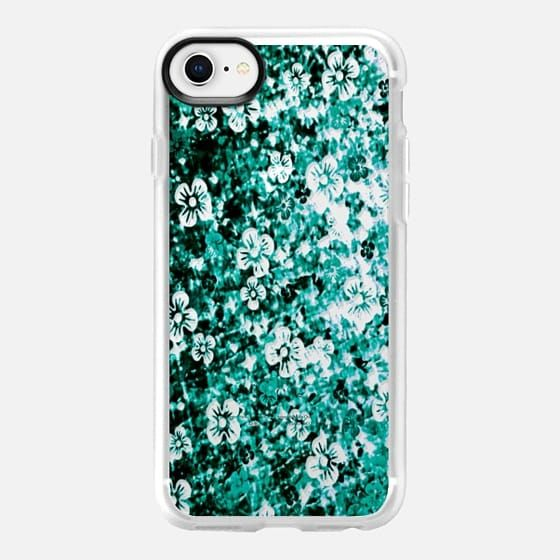FLOWER POWER, TEAL GREEN FLORAL OMBRE, By Artist Julia Di Sano, Ebi Emporium on Casetify, #EbiEmporium #Casetify #iPhoneCase #FloralCase #FloraliPhone #ombre #teal #emerald #green #flowers #musthave #tech #iPhone7 #iPhone8 #iPhone8Plus #iPhoneX #iPhone6 #iPhone6Plus #iPhone7Plus #iPhone8Plus #Samsung #want #CasetifyArtist
