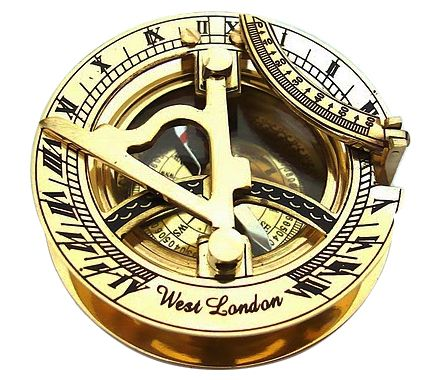 Brass Sundial Compass Pocket West London