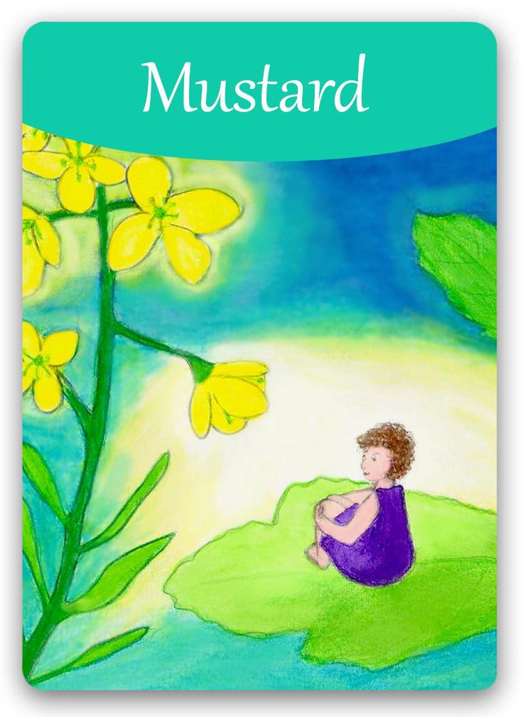 Bach Flower Cards [Mustard] - The negative Mustard state cannot be hidden - as the suffer turns completely inward, with all energies directed toward living through an overpowering gloom. The positive Mustard state carries a feeling of joyful serenity that serves them through both dark and sunny days. They'll still see the dark clouds, but won't be plunged into depression by them.