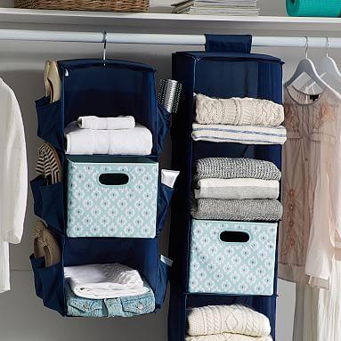 Closet Storage Set, Bohemian Paisley, Dusty Blue/Teal
