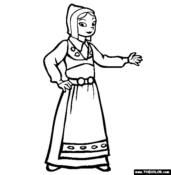 17 best images about holidays around the world on for Swedish coloring pages