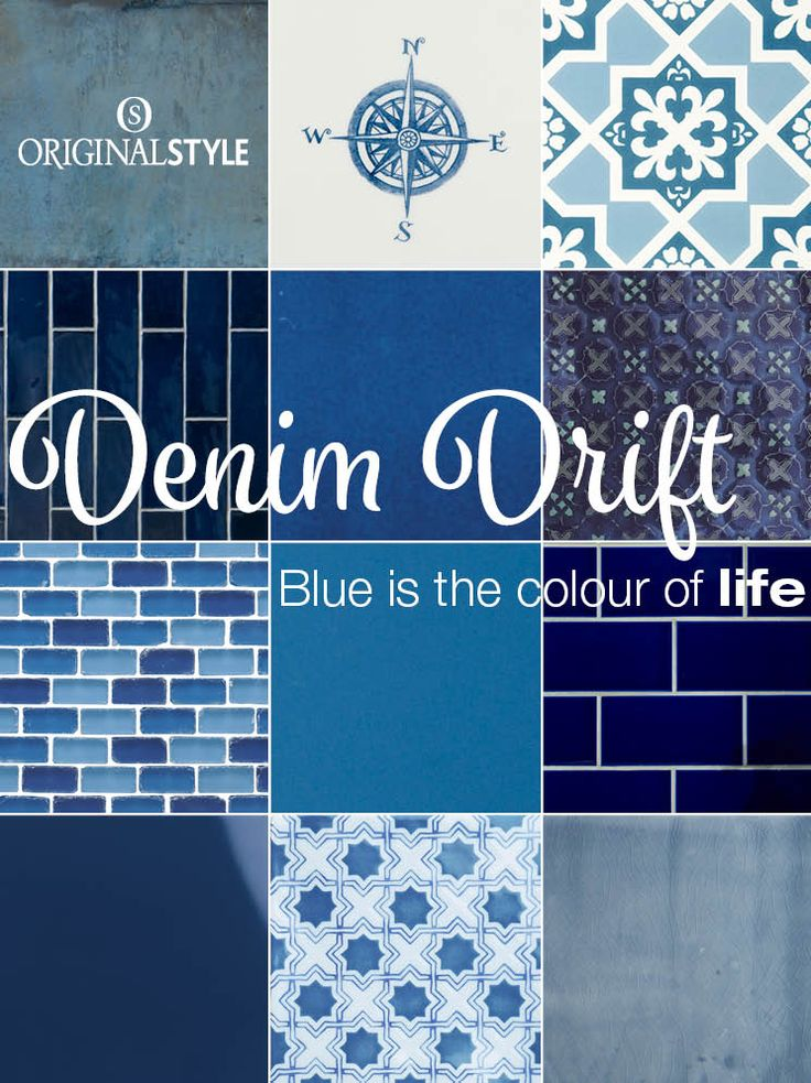 The reason is that Dulux have announced their colour of 2017 – it's Denim Drift. Blue also happens to be one of our most popular tile colours for walls and floors, not only in bathrooms but in kitchens too.