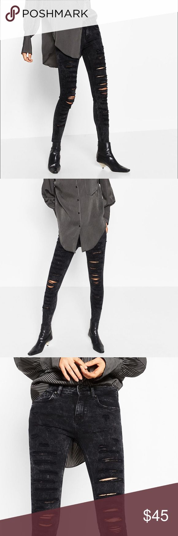 ZARA New w/ Tag 2016 Fall Distressed Sunny Jeans Super gorgeous premium jeans from Zara 2016 fall collection. Super cool style. Size runs small. Suitable for ladies who usually wear size 25. Brand new with original tag on! Zara Jeans Skinny
