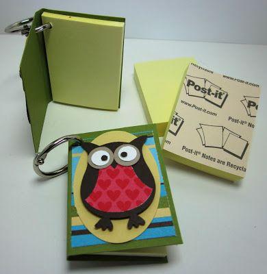 Cute mini Post-It note album using the #cropadile from @InkingIdaho #wrmk @wermemorykeepers