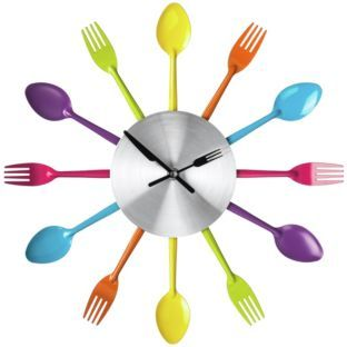 Buy Premier Housewares Coloured Cutlery Wall Clock at Argos.co.uk - Your Online Shop for Clocks.