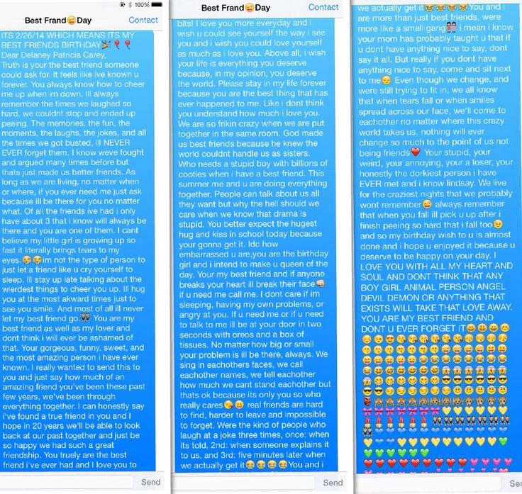 My Text Message To Best Friend On Her Birthday