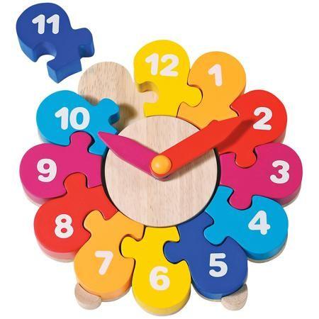 goki Часы-пазл II, goki  — 2295 руб.  —  Теперь можно в игровой форме объяснить малышу понятие времени, ведь Часы-пазл II от goki (гоки) - это комбинация пазла и детских часов. Элементы пазла похожи на лепестки прекрасного цветка, собрав их, ребенок обнаружит, что это не что иное, как циферблат часов с цифрами от 1 до 12. Когда все цифры расставлены в правильной последовательности, можно приступать к изучению понятий часов и минут. А чтобы ребёнок научился быстро узнавать минуты, на часах…