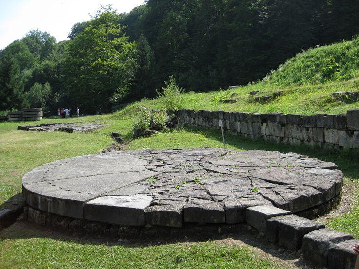 Bucegi Mountains, Romania - The Mysteries - Solar disc (astronomical calendar) at Sarmizegetusa Regia, Romania