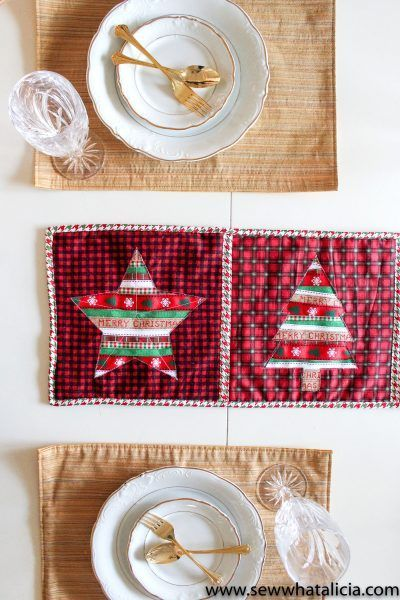 Reverse Applique Christmas Table Runner Tutorial