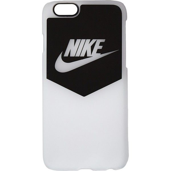 Nike Heritage Cell Phone Case (Black/White) Cell Phone Case (115 SAR) ❤ liked on Polyvore featuring accessories, tech accessories, phone, cases, phone cases, cellphone, nike, apple iphone headphones, black and white headphones and cell phone headphones