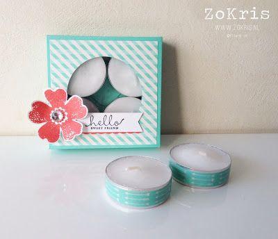 ZoKris: Inspiration Station: Envelope Punch Board box with tea lights tutorial